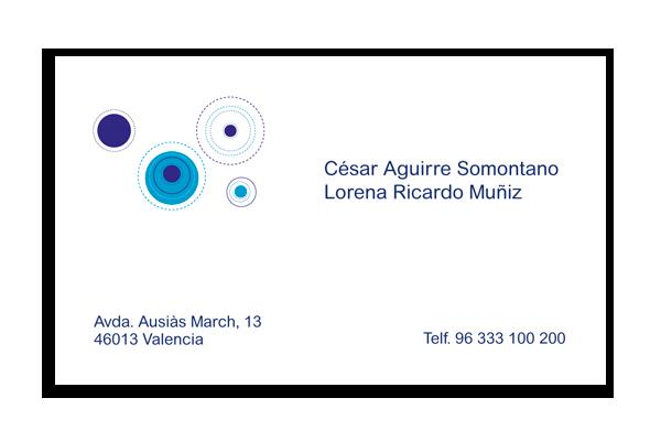 Tarjeta Círculos Azules